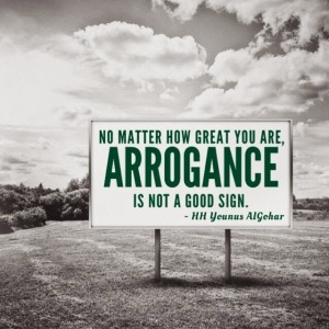 #QuoteoftheDay 'No matter how great you are, arrogance is not a good sign.' - His Holiness Younus AlGohar