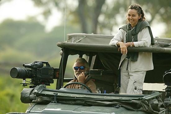 Dereck and Beverly Joubert at work in Botswana