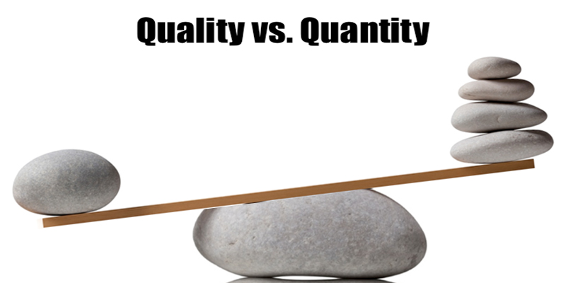 quality vs quantity Quantity often just masks a problem whether sales leads, social media fans or employees, quality is the entrepreneur's friend video podcasts start a business subscribe books.