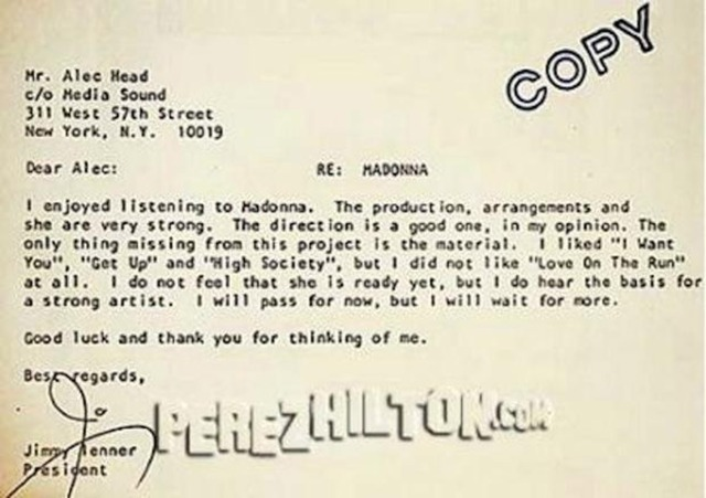 Madonna Rejection