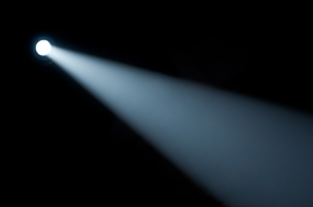 Spot light beam. Flashlight