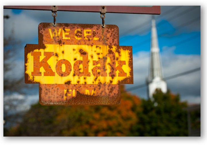 Kodak Rusty Sign